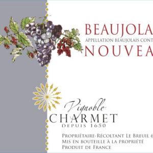 Beaujolais Nouveau du Domaine Charmet